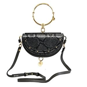 Chloé Nile Bracelet Mini Snake- Effect Leather Bag